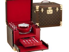 Just what every girl needs, a Louis Vuitton special-edition caviar case for properly storing and toting caviar.