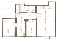 Eladó tégla építésű lakás - Somogy megye, Kaposvár, Arany János utca #31883733 Utca, Floor Plans, Floor Plan Drawing, House Floor Plans