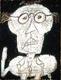 Monsieur d'hotel, 1947 Dubuffet Oil and sand on canvas 46 1/2 x 35 1/8 in. 118.1 x 89.2 cm