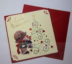 weihnachtskarten 3d stickkarte weihnachten schneemann. Black Bedroom Furniture Sets. Home Design Ideas