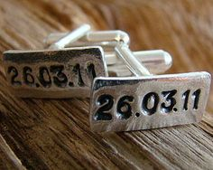 Groom gift idea...he'll never forget the date of his anniversary...special day.