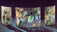 Beautiful jewelry by Rene Jules Lalique. Gold, enamel, chrysoprases; 1900