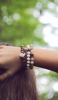 Peach Moonstone Diamond Bracelet Beadwork Bracelet