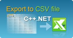 Export data to CSV file in C++.NET from ASP.NET web pages, windows applications, winforms, console applications! Spreadsheets in .NET.  #EasyXLS #Excel #CSV #Export #CPPNET Files In C, Filing, 3 D, Console, Tutorials, Windows, Roman Consul, Consoles, Ramen