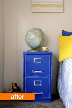 8 Great Stenciled, Papered, and Painted File Cabinet Makeovers