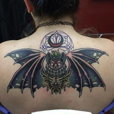 Got another color session in on Thalia's batty tatty. Centerpiece is fresh, lines & everything else is healed. Thankyou for literally letting me do whatever I want. ✌🏼️💀 #wip #workinprogress #bat #spooky #symmetry #gargoyle #ribcage #moon #luna #lace #ornaments #crystals #chandelier #goth @redemptiontattoocare #alexandrafische #redemptiontattoocare #womenwhotattoo #tattoo #tattooart #tattooed #tattoo_artwork  #tattoosforwomen #tattooed_body_art  #supportgoodtattooing  #inksav #freshlyinked…