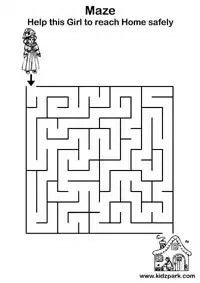 gambar permainan maze/labirin anak usia dini (balita, TK