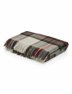 Winter Berry Checked Throw - Marks & Spencer