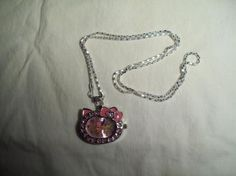 NEW! PINK NECKLACE CAT WATCH {FREE SHIPPING}