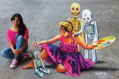 """Traditions"" #3D #adrydelrocio #mexico #chalk #Gises"