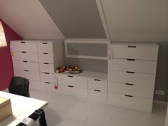 1000 images about sous pente on pinterest dressing - Amenagement sous pente ikea ...