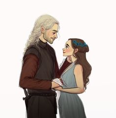 """""""prince rhaegar loved his lady lyanna and thousands died for it. """""""