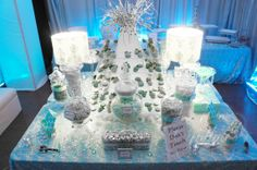 Tiffany amp co candy buffet desert table tiffany blue color tiffany