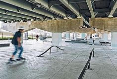 Skateboarding in the Underpass Park, Toronto by PFS Studio. Click image for full profile and visit the slowottawa.ca boards >> http://www.pinterest.com/slowottawa/boards/