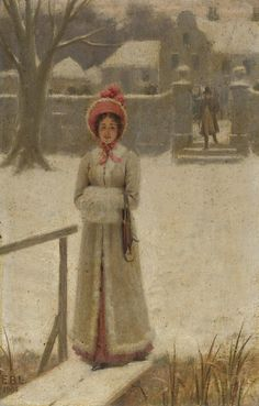 monsieurleprince:    Edmund Blair Leighton (1853 - 1922) - A wintry walk, 1904