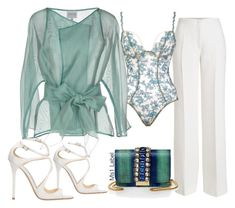 """""""Baby blue"""" by ms1-ltu on Polyvore featuring Agnona, Va Bien, GEDEBE, Armani Collezioni and Jimmy Choo"""