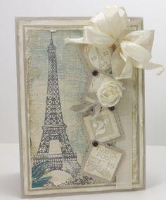 Vintage Postage Due--Stamp Set - French Foliage, Postage, Very Vanilla Seam Binding,