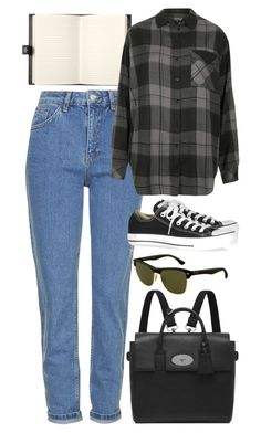 """Untitled #6179"" by rachellouisewilliamson ❤ liked on Polyvore featuring Topshop, Bentley, Converse, Mulberry and Ray-Ban"