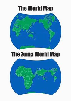 The world as seen by Jacob Zuma. News South Africa, Jacob Zuma, Picture Fails, Funny Clips, Embedded Image Permalink, Funny Pictures, Funny Memes, Map, Humor