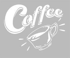Pochoir Adhésif Home Déco 15 x 12 cm COFFEE