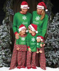 16df6ec8a9 adults personalized holiday plaid snowflake pj s Family Christmas