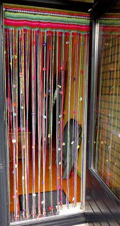 Crocheted Beaded Curtain