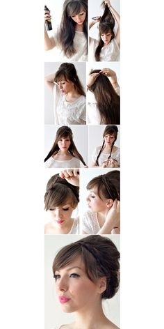 D.I.Y Hair Style Braid For Long Hair- I want to grow out my hair so I can do this.