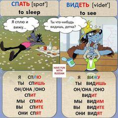Russian Russian Language Lessons, Russian Lessons, Russian Language Learning, Foreign Language, How To Speak Russian, Learn Russian, Teaching Science, Teaching Kids, Verb Conjugation