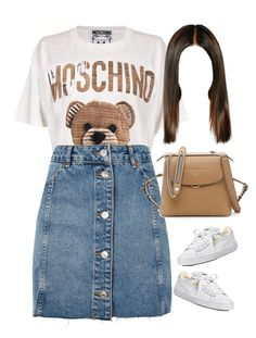 """""""29.08.17"""" by jamilah-rochon ❤ liked on Polyvore featuring Moschino, Topshop, Puma and Fendi"""