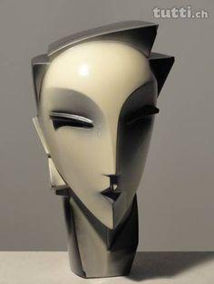 Keramikfigur Myng von Lindsay B 1984 signiert - Zürich - tutti. Sculptures Céramiques, Art Sculpture, Stone Sculpture, Abstract Sculpture, Art Deco Tattoo, Mannequin Art, Contemporary Sculpture, Art Deco Design, Portrait Art