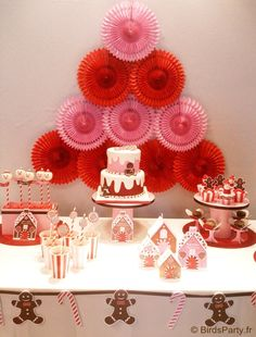 Christmas candyland and gingerbread men desserts table   #Christmas #dessertstable #candyland
