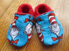 Dr Suess Soft Soled Baby / Toddler Ecoshoes by BulaJeansBoutique, $16.00