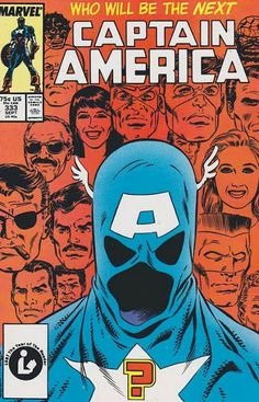 Captain America #333 First Appearance of John Walker as New Captain America! Cover by Mike Zeck.