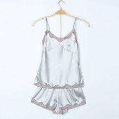 Sexy Silk Lace straps Sleeveless Pajamas |Womens Pajamas - Clothing & Apparel- ByGoods.com