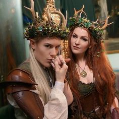Maritha Tathariel as a Nordic Elven Queen and her husband, the King.  https://www.facebook.com/MaritaTathariel