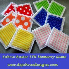 Fabric Memory Game