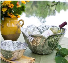 HUDSON MOD's summer issue has featured Beatriz Ball as a luxurious yet versatile choice for summer entertaining. Our large CABBAGE BOWL from the Garden Collection. is perfect for salad, fruit, chilled wine and so many cool summer dishes. Deeply veined leaves overlap to form the bowl. Big enough to serve a crowd, but not so big that you won't use it all the time. Made of an FDA safe, easy-care, oven and freezer friendly aluminum alloy. $169 #cabbagebowl #wine #icebucket