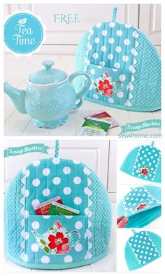 Sewing Patterns Free, Free Sewing, Fabric Patterns, Easy Sewing Projects, Sewing Crafts, Burlap Favor Bags, Tea Cosy Pattern, Mug Cozy, Sewing Lessons