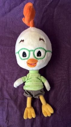 "10"" CHICKEN LITTLE Disney LOVEY figure Glasses Plush Toy - http://hobbies-toys.goshoppins.com/tv-movie-character-toys/10-chicken-little-disney-lovey-figure-glasses-plush-toy/"