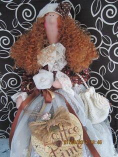 Tilda-кофейная фея Эстель. - коричневый,кукла Тильда,тильда ангел,кофейное дерево