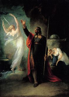 Prospero and Ariel (from Shakespeare's The Tempest), 1797 by William Hamilton
