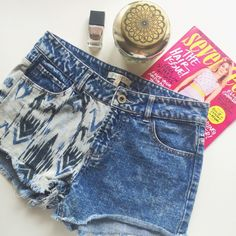 Half Aztec Half Vintage Look Cutoff Shorts These trendy cutoff shorts by Lovefire feature a half tribal aztec look and a half vintage look! They are a size 7 and are so cute! Make an offer! Love Fire Shorts