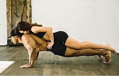 Couple workout fit strong lean
