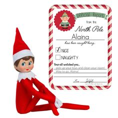 Christmas Elf Report - Printable Elf Notes - Naughty or Nice Elf Behavior Note - Christmas Printable - Letter from Elf - INSTANT DOWNLOAD by AJCreations12 on Etsy