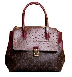 Louis Vuitton Precious Leather Majestueux Tote Bag M42963 Wine - $239.00