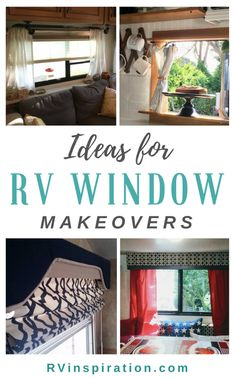 Camper Renovation 690176711632222892 - Tons of RV window treatment ideas – get rid of (or disguise!) the factory decor in your camper, travel trailer, or motorhome! Source by forestandshanna Campervan Interior, Rv Interior, Interior Ideas, Motorhome Interior, Rideaux Camping-car, Remodel Caravane, Camping Vintage, Vintage Campers, Vintage Trailers