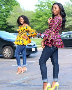 Ankara always helps you make a bold fashion statement. Ankara tops are one of the hottest things in the fashion world right now, and the are super creative and fashionable. Check out these amazing Ankara. African Blouses, African Tops, African Wear, African Attire, African Women, African Style, African Beauty, African Dress, African American Fashion