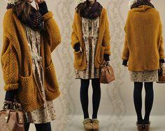 La mode Mori Girl 森 ガール - Ma passion d'Otaku - Girl Japanese, Japanese Fashion, Mode Outfits, Winter Outfits, Grunge Outfits, Mode Mori, Mode Lolita, Mode Hippie, Mori Girl Fashion