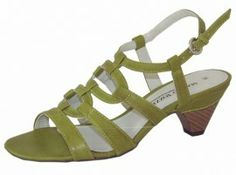 Pistachio Green Heeled Sandals. Green ladies sandals