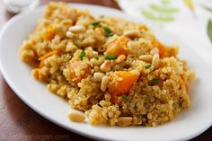 Lemony Quinoa with Butternut Squash...I bought a package of frozen cooked winter squash so I'll try to adapt recipe to use that instead.
